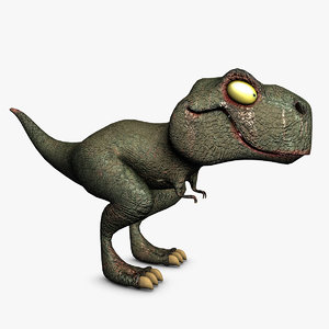 t-rex v-ray 3d model