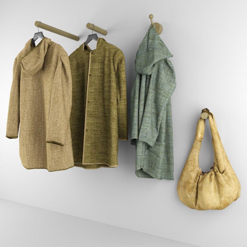 coat hanger bag 3d model
