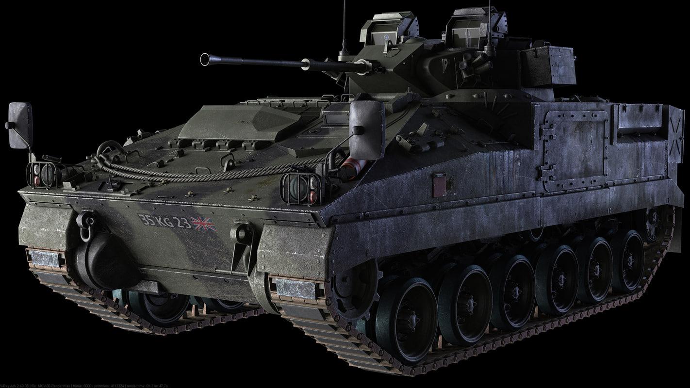 mcv-80 warrior 3d model