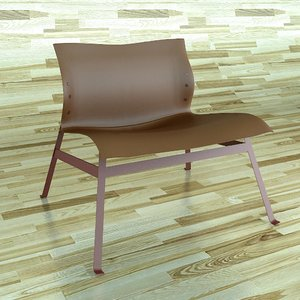capdell panel chair 3d model