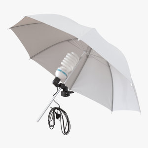 photography studio umbrella photo 3d model