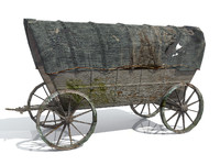 Wild West Waggon (low poly)