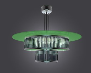 3d model of art deco chandelier
