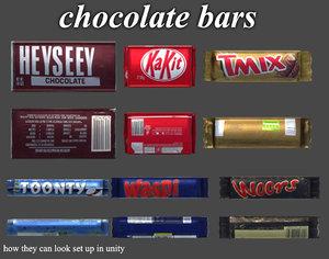 chocolate bars obj