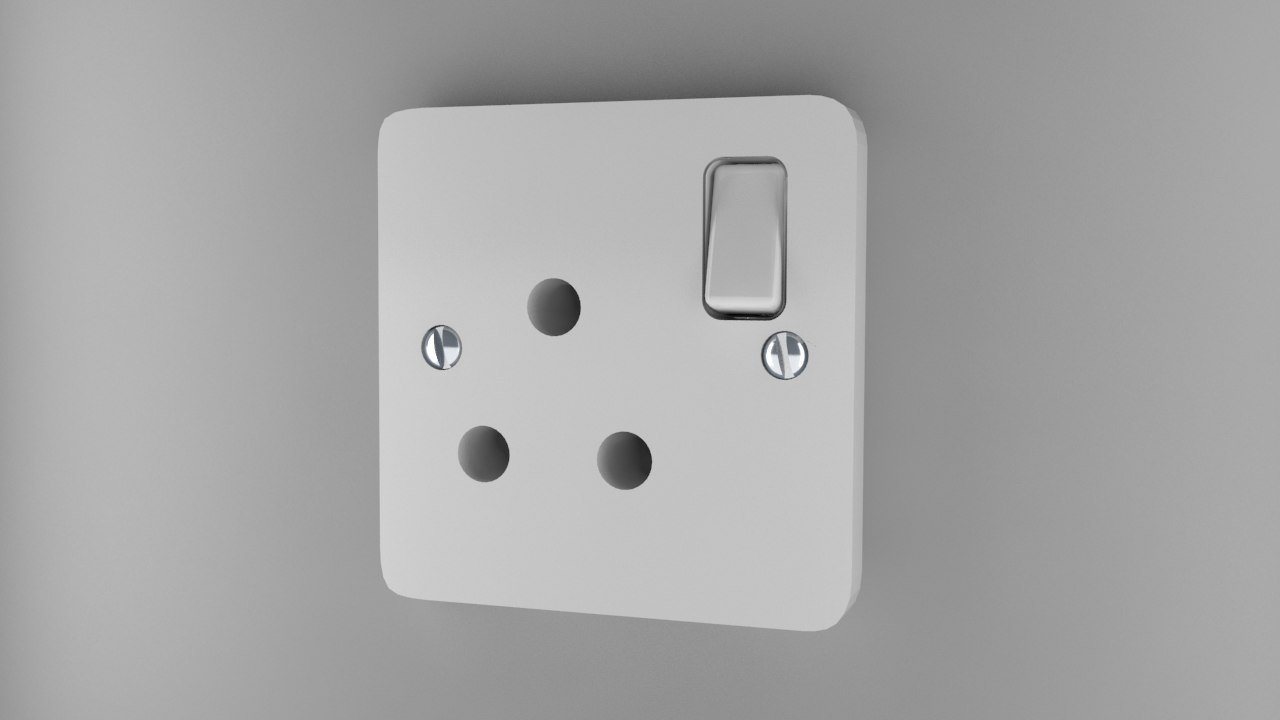 power socket type m 3d model