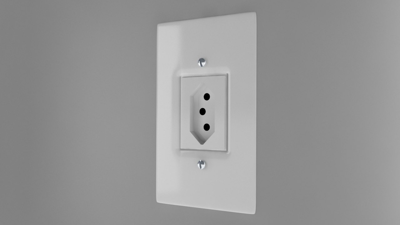 3d power socket type n model