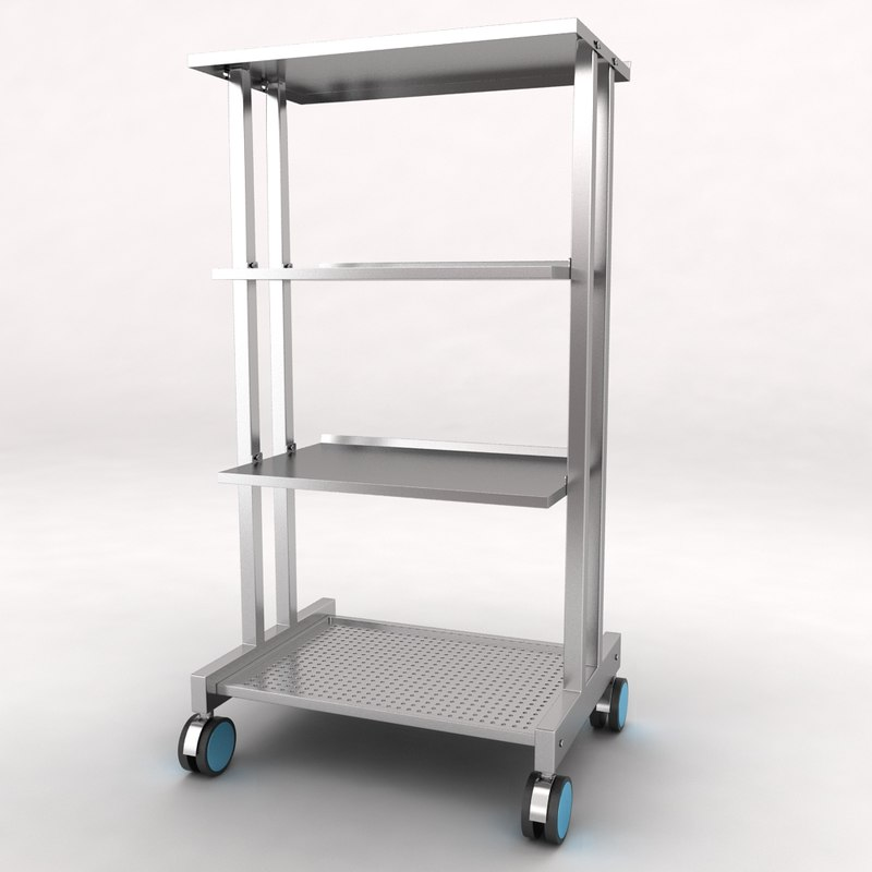 medical equipment trolley 3d max