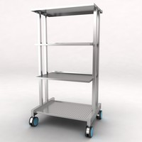 medical equipment trolley 3d max