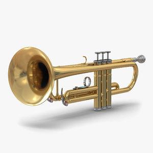 trumpet realistic 3d c4d