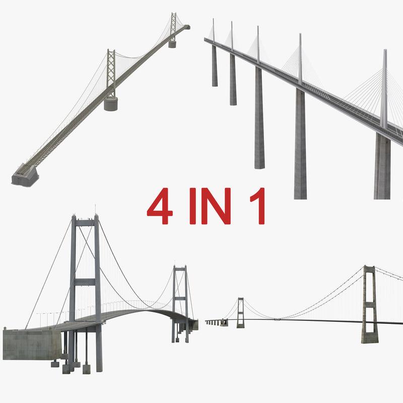 3d model bridges 3