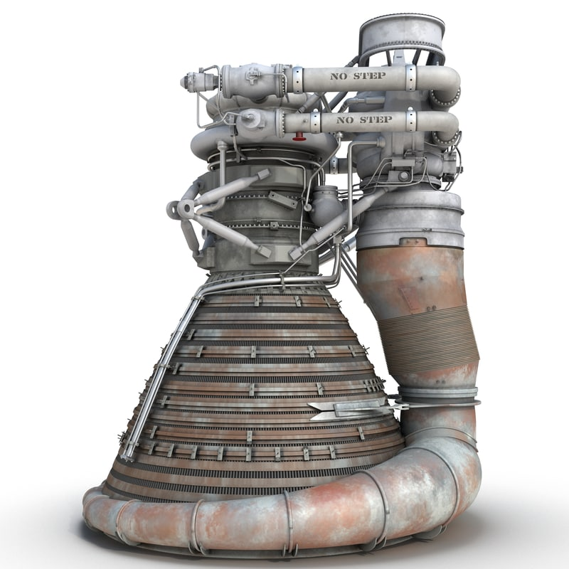f-1 rocket engine 2 3d 3ds