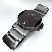 wrist watch certina ds 3d model