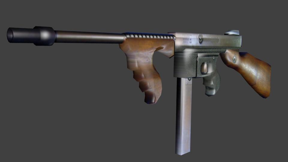 gun 3d blend