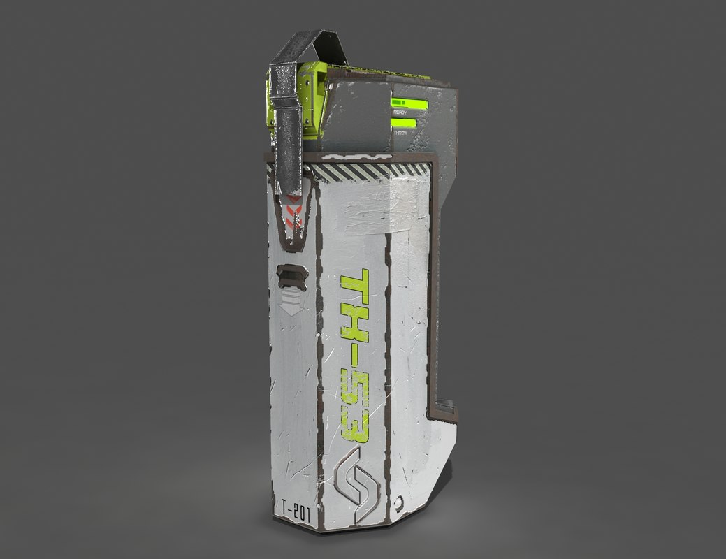 futuristic sci-fi grenade 3d model