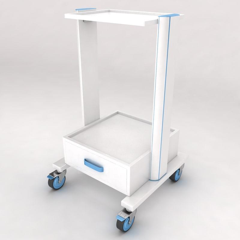 3d medical equipment trolley