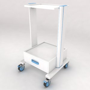 3d medical equipment trolley
