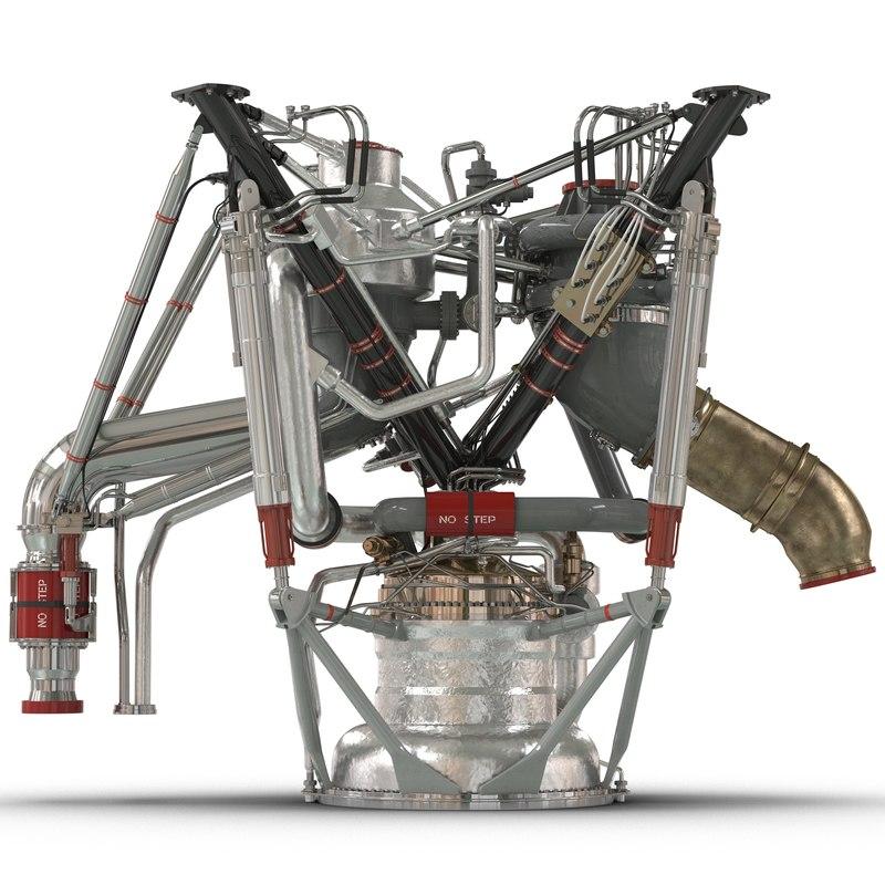 rs-68 rocket engine 3d c4d
