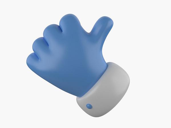 3d model hand polys