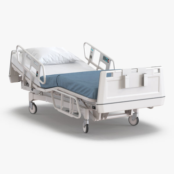 3d model hospital bed rigged