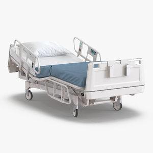 3d model hospital bed rigged