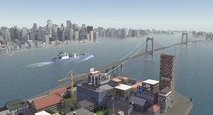 coastal city urban 3ds