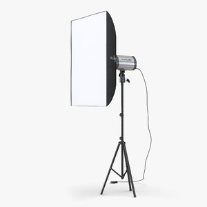 3d professional studio lighting softbox