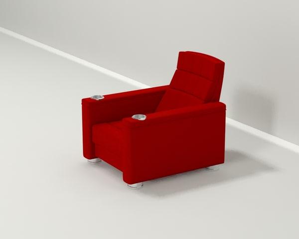 recliner 3d model