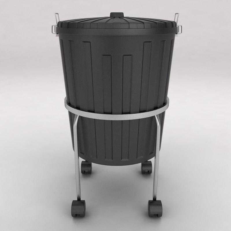 3d model dustbin trolley