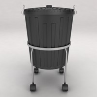 3d model dustbin trolley