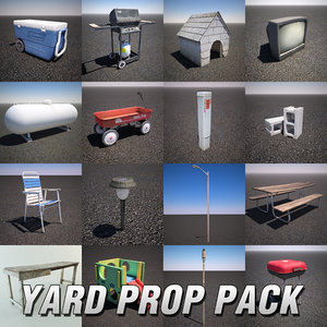 yard props pack 3d model