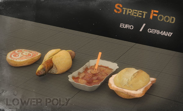 3d model street food europe germany