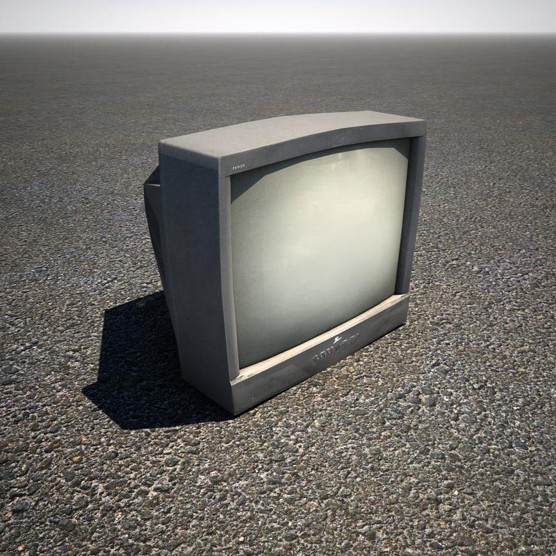 crt television 3d max