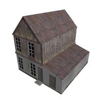3d model house medieval
