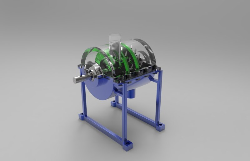 3d model of reactive steam turbine 150