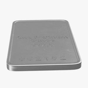 platinum ounce 3d max