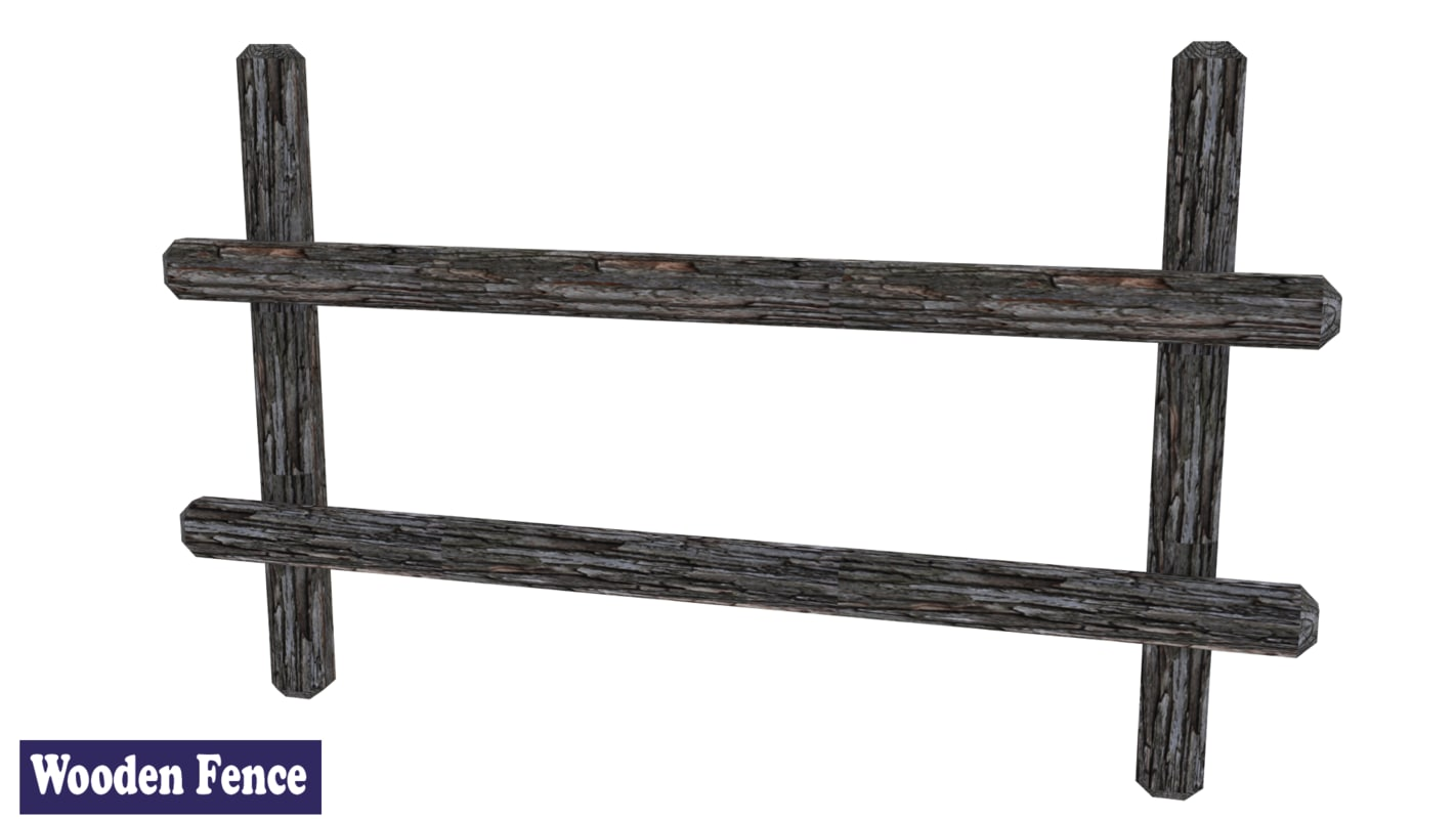 medieval wooden fence 3ds free