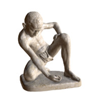 3d model statue marble player