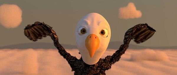 bird rigged 3d model