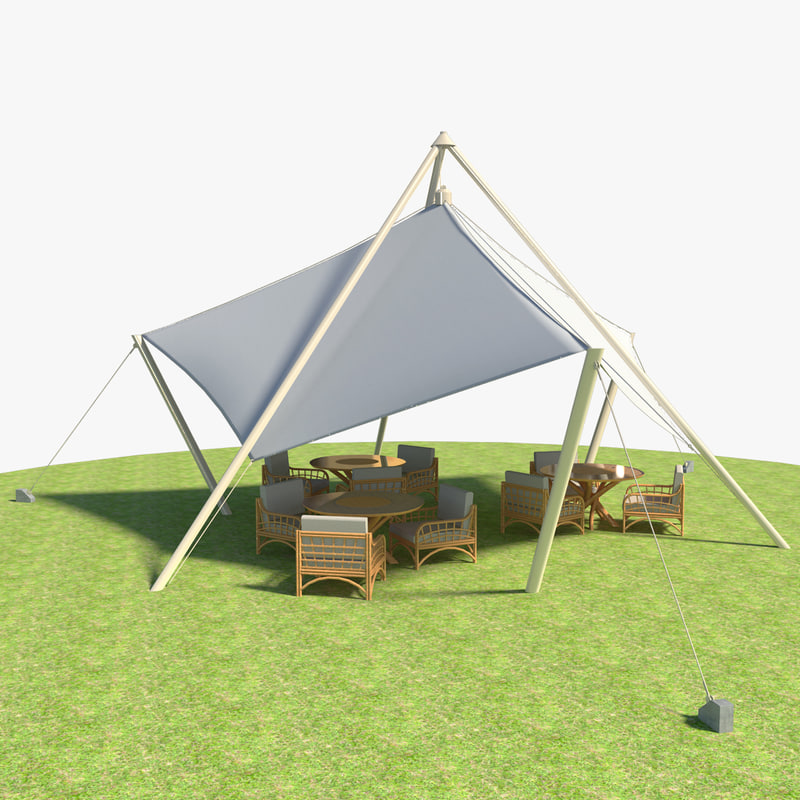 tent tables chairs 3ds free