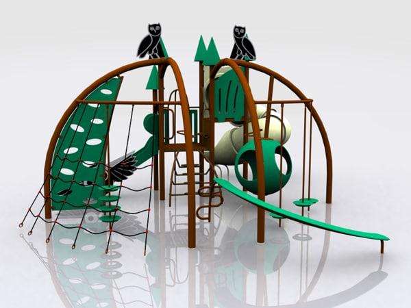 owl playland kids 3d max