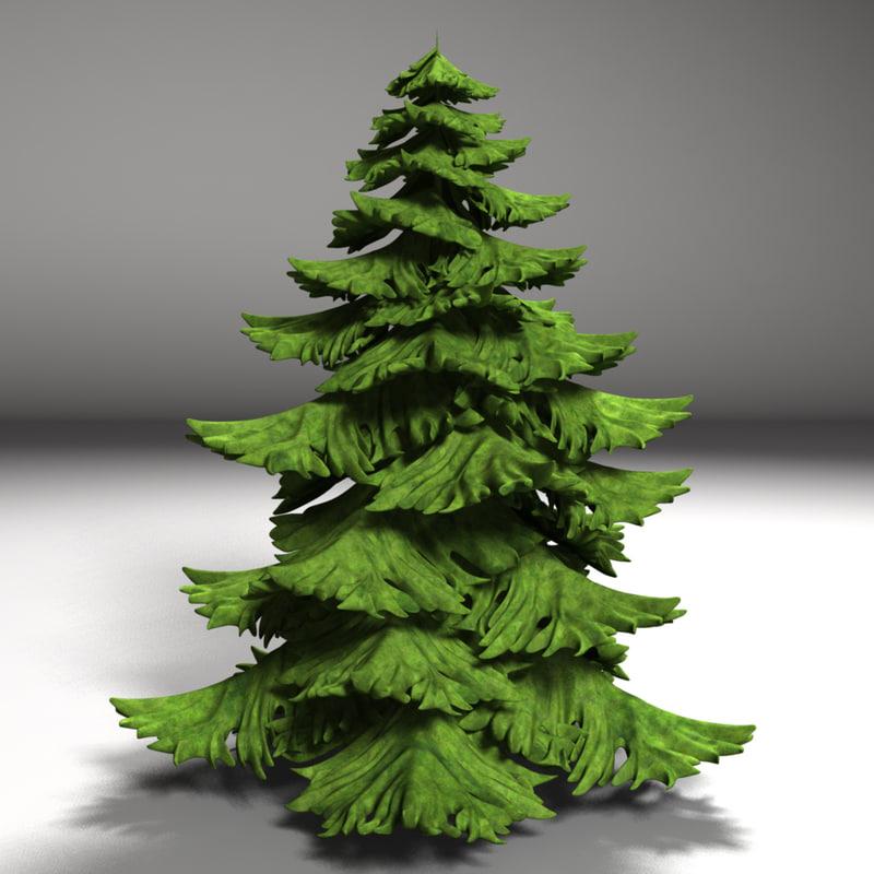 fir tree c4d