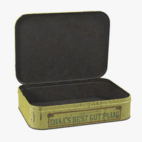 3d vintage tobacco tin 02 model