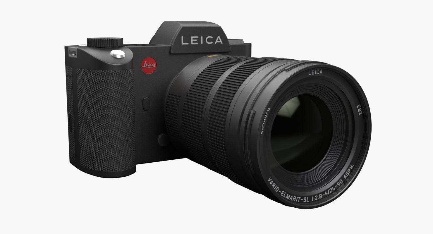 3d max photorealistic leica sl camera