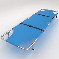 3d model hospital stretcher bed equipment