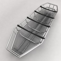 3d hospital stretcher bed equipment model