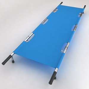 3d hospital stretcher bed equipment model