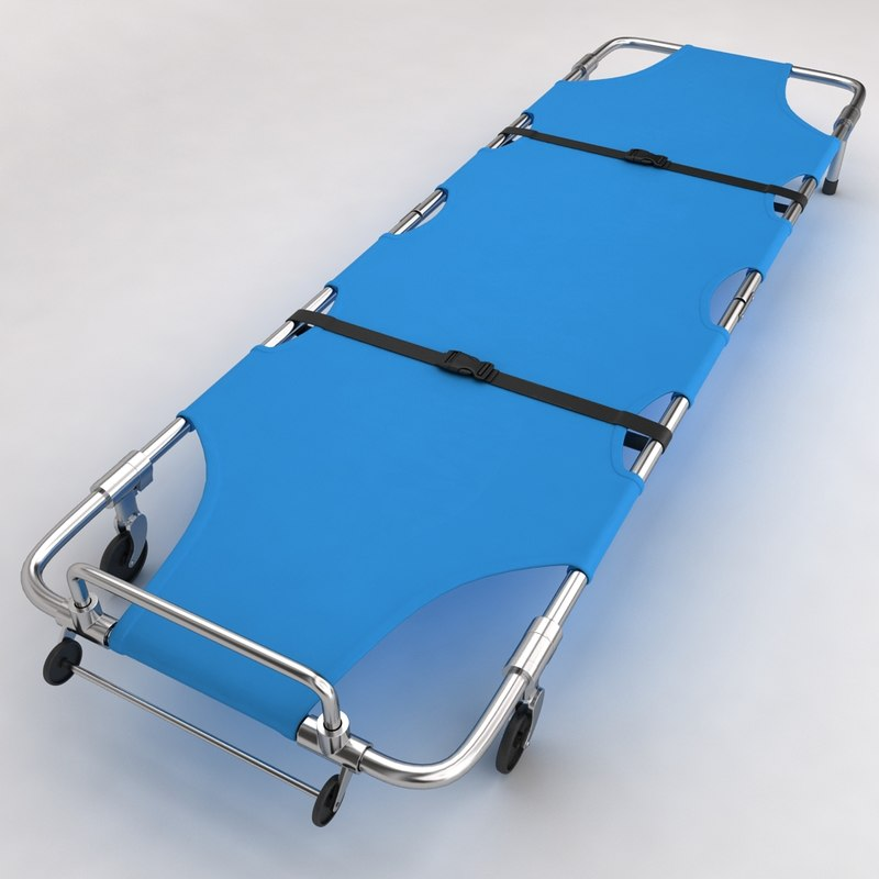 3d hospital stretcher bed equipment