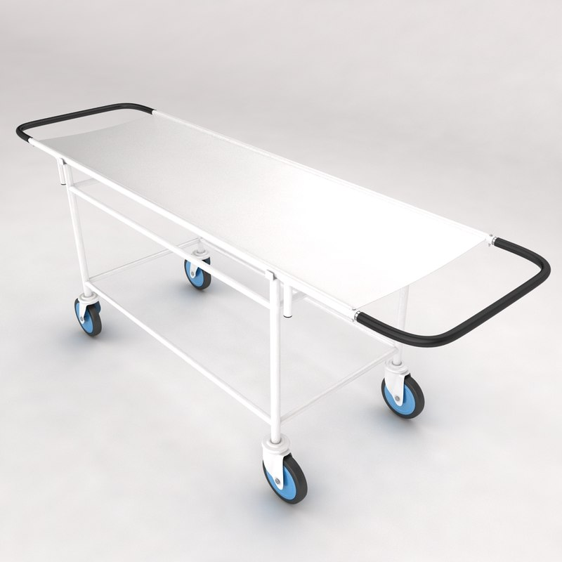 3d model medical stretcher equipment