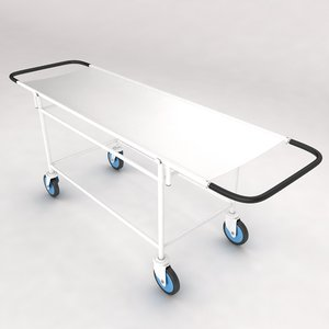3d model medical stretcher equipment