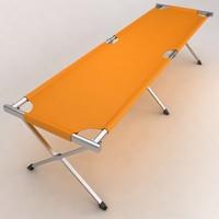 hospital stretcher bed equipment 3d model